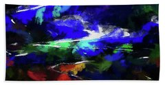 Moment In Blue Lazy River Hand Towel by Cedric Hampton