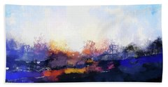 Moment In Blue Spaces Hand Towel