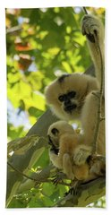 Mommy Gibbon Bath Towel
