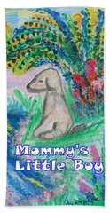 Hand Towel featuring the painting Mommy's Little Boy by Diane Pape