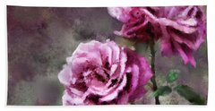 Bath Towel featuring the digital art Moms Roses by Susan Kinney