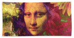 Mona Lisa Dreaming Hand Towel
