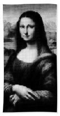 Mona Lisa Halftone Bath Towel
