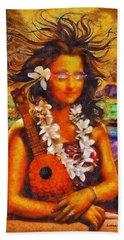 Mona Lisa In Hawai - Pa Hand Towel