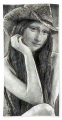 Mona Lisa Of Texas - Pa Hand Towel