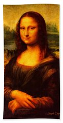 Mona Lisa Revisited Hand Towel
