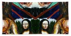 Mona Lisas Screams Hand Towel