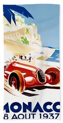 Monaco Grand Prix 1937 Hand Towel