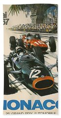 Monaco Grand Prix 1967 Hand Towel