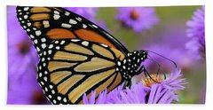 Monarch Among The Asters Bath Towel