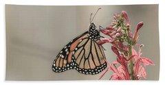 Monarch And Cardinal Flower 2016-2 Bath Towel