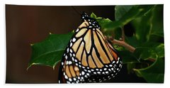 Monarch And Holly Hand Towel