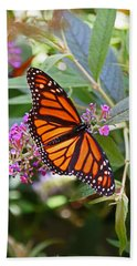 Monarch Butterfly 2 Hand Towel by Allen Beatty