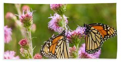 Monarch Butterfly Pair Square Format Hand Towel