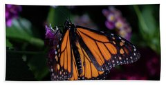 Hand Towel featuring the photograph Monarch by Jay Stockhaus