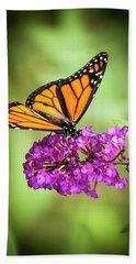 Monarch Moth On Buddleias Bath Towel