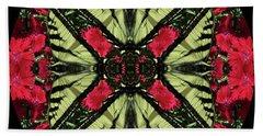Monarch On Dianthus Kaleidoscope Bath Towel