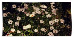 Bath Towel featuring the photograph Monarchs And Daisies by Cassandra Buckley