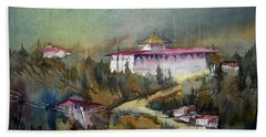 Monastery In Mountain Bath Towel