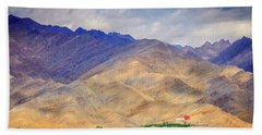 Hand Towel featuring the photograph Monastery In The Mountains by Alexey Stiop