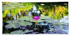 Monet Lilies Bath Towel