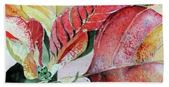 Monet Poinsettia Bath Towel