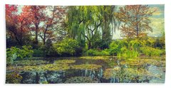 Monet's Afternoon Hand Towel by John Rivera
