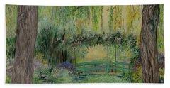 Monet's Bridge Bath Towel