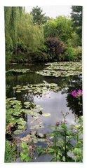 Monets Garden, Giverny, France Bath Towel