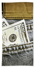 Bath Towel featuring the photograph Money Jeans by Trish Mistric