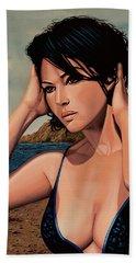Monica Bellucci 2 Hand Towel by Paul Meijering