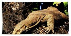 Monitor Lizard Bath Towel by Manjot Singh Sachdeva