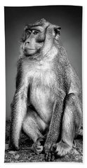 Monkey Hand Towel by Charuhas Images