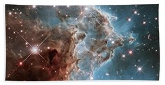 Bath Towel featuring the photograph Monkey Head Nebula by Marco Oliveira
