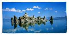 Blue Mono Lake Tufa Towers California Hand Towel