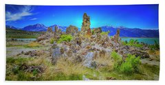 Mono Lake, South Tufa's Hand Towel by Craig J Satterlee