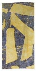 Hand Towel featuring the drawing Mono Print 005 - Broken Steps by Mudiama Kammoh