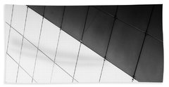 Monochrome Building Abstract 3 Bath Towel