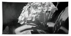 Monochrome Flora Bath Towel