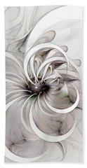 Monochrome Flower Hand Towel