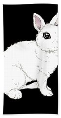 Monochrome Rabbit Hand Towel
