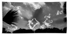 Monochrome Sunburst Hand Towel by Eric Liller