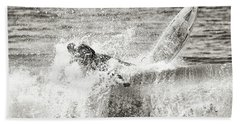 Monochrome Wipeout Bath Towel