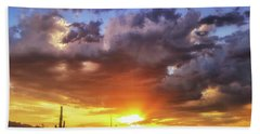 Monsoon Sunset Bath Towel by Anthony Citro