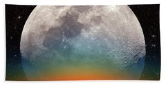 Bath Towel featuring the photograph Monster Moonrise by Larry Landolfi