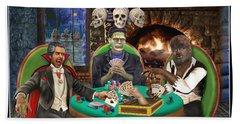 Monster Poker Hand Towel by Glenn Holbrook