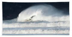 Hand Towel featuring the photograph Monster Wave by Nicholas Burningham