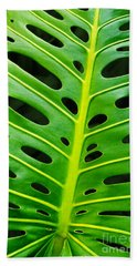 Monstera Leaf Bath Towel
