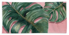 Monstera Leaf  Hand Towel