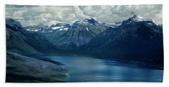 Montana Mountain Vista And Lake Hand Towel